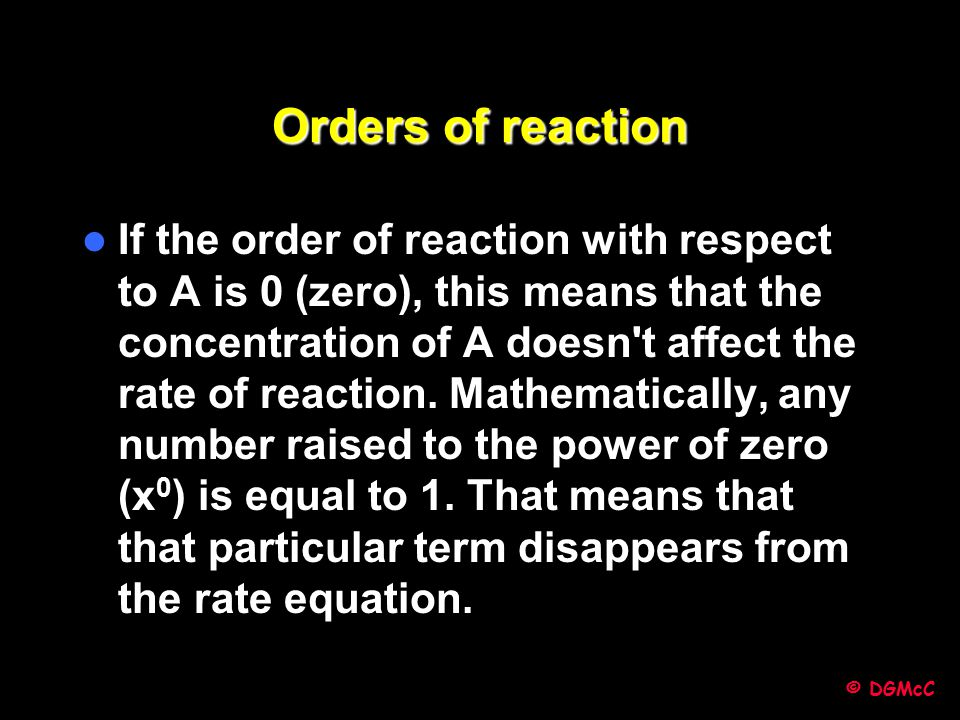 Orders of reaction