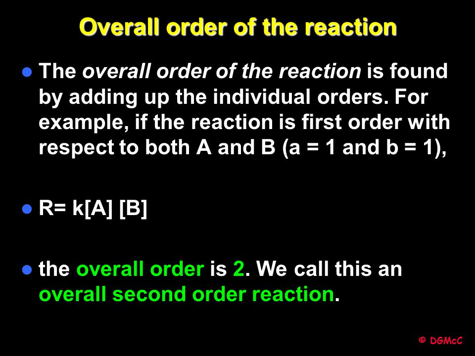 Overall order of the reaction