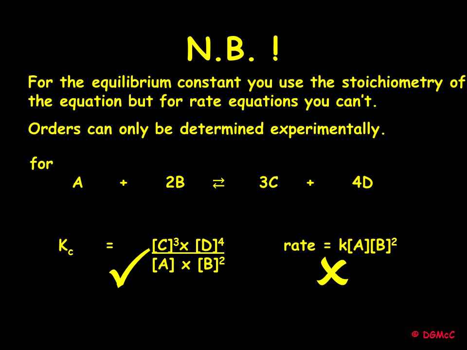   N.B. ! For the equilibrium constant you use the stoichiometry of