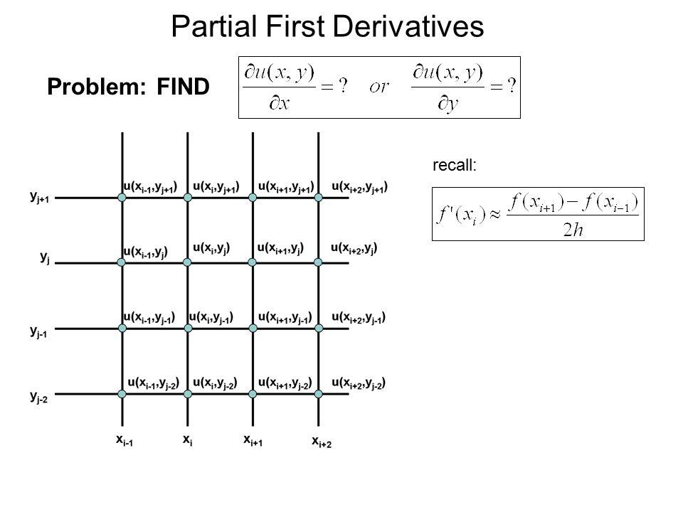 Partial First Derivatives