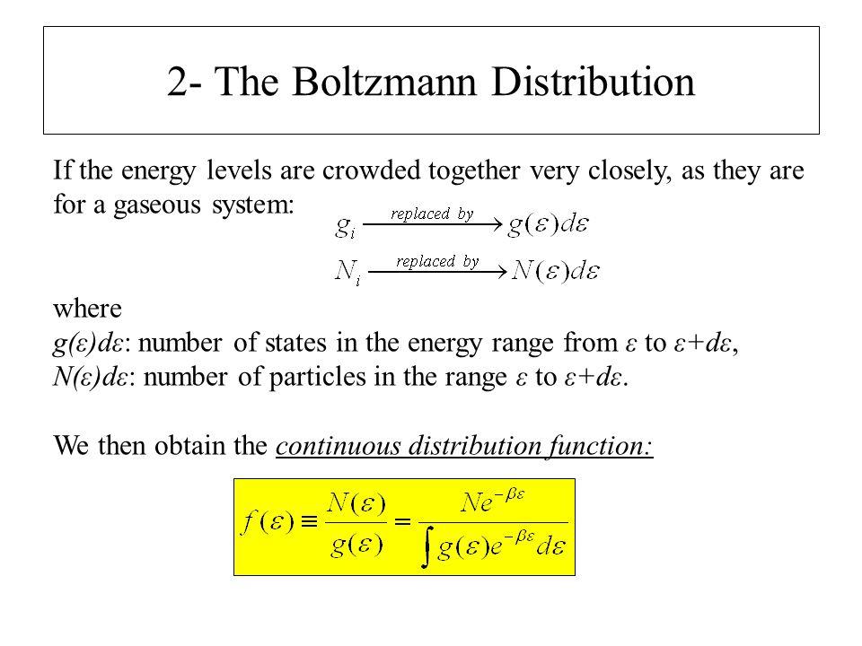 2- The Boltzmann Distribution