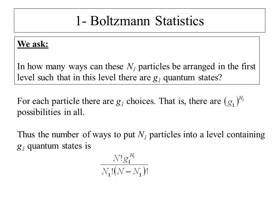 1- Boltzmann Statistics