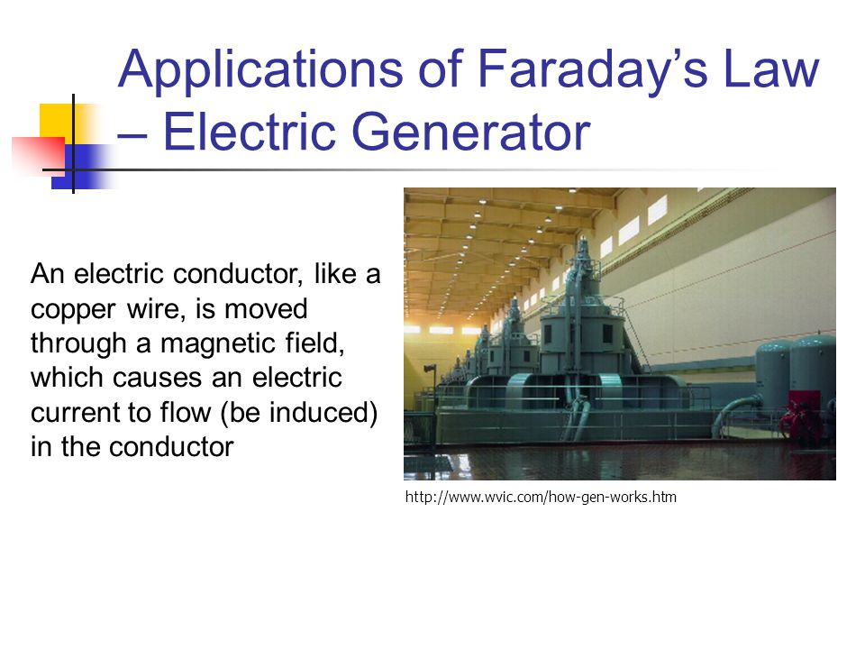 Applications of Faraday's Law – Electric Generator