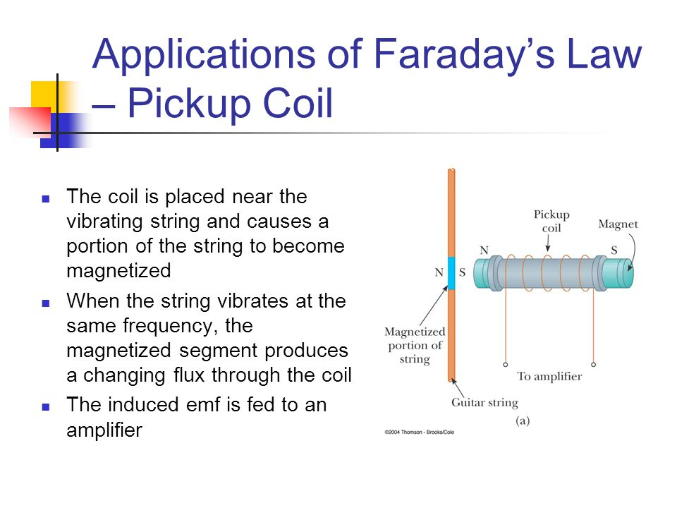 Applications of Faraday's Law – Pickup Coil