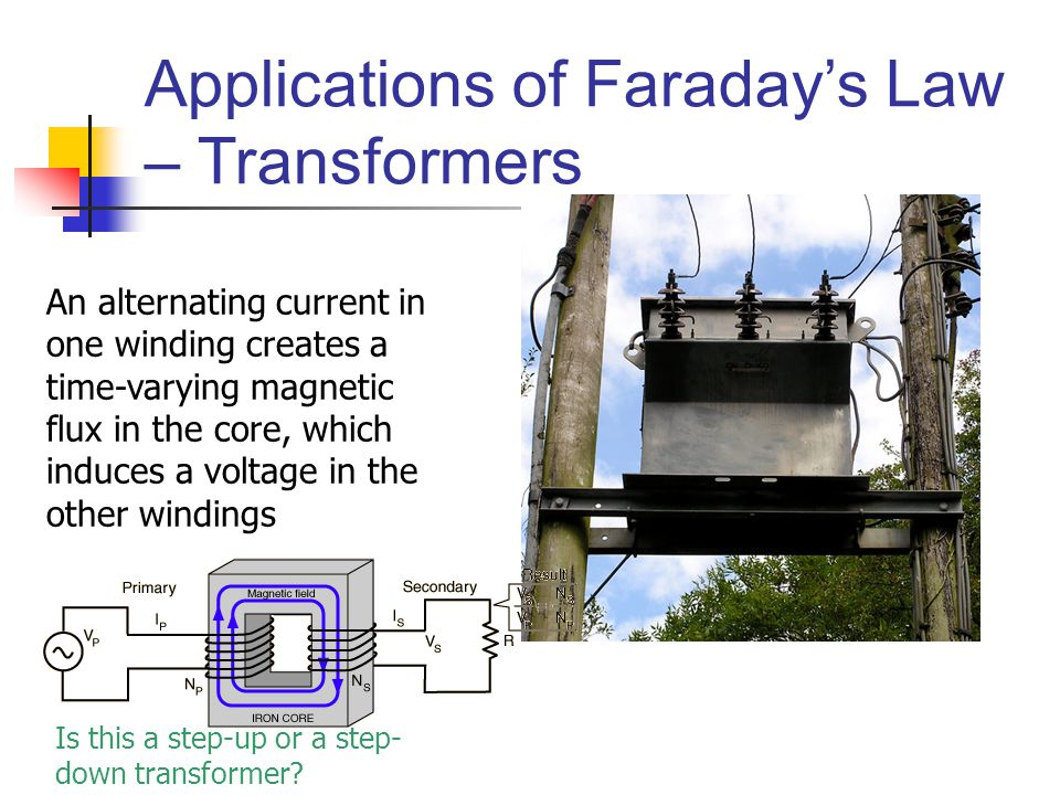 Applications of Faraday's Law – Transformers