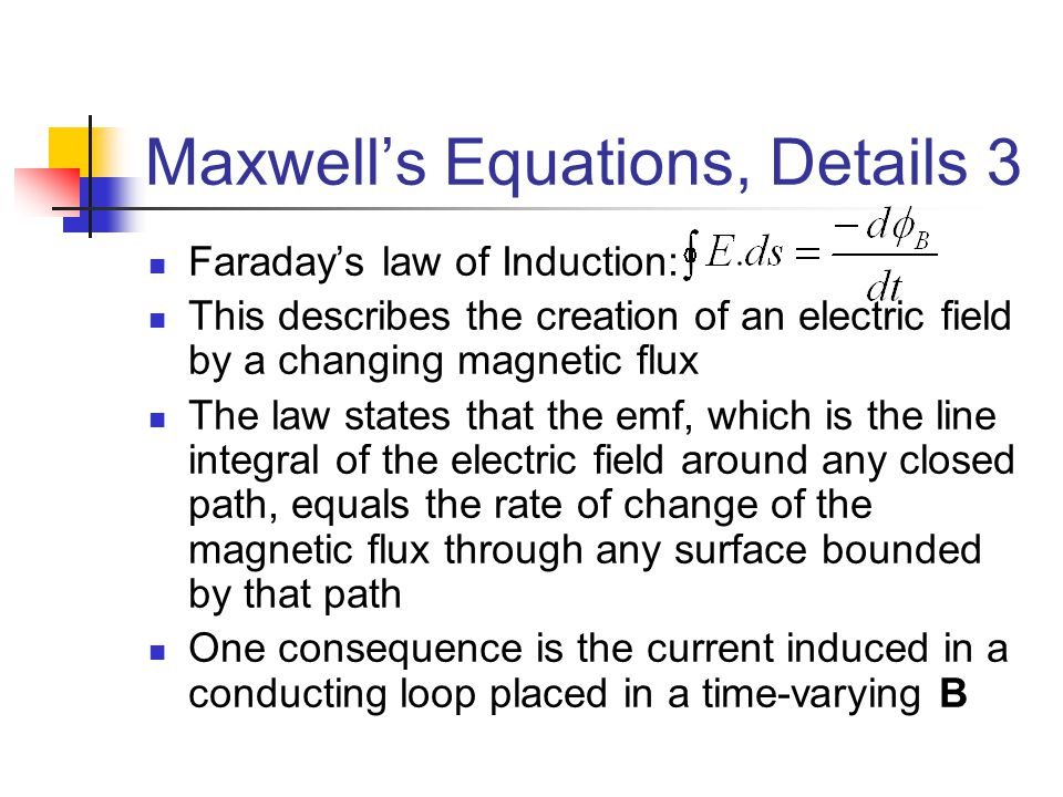 Maxwell's Equations, Details 3