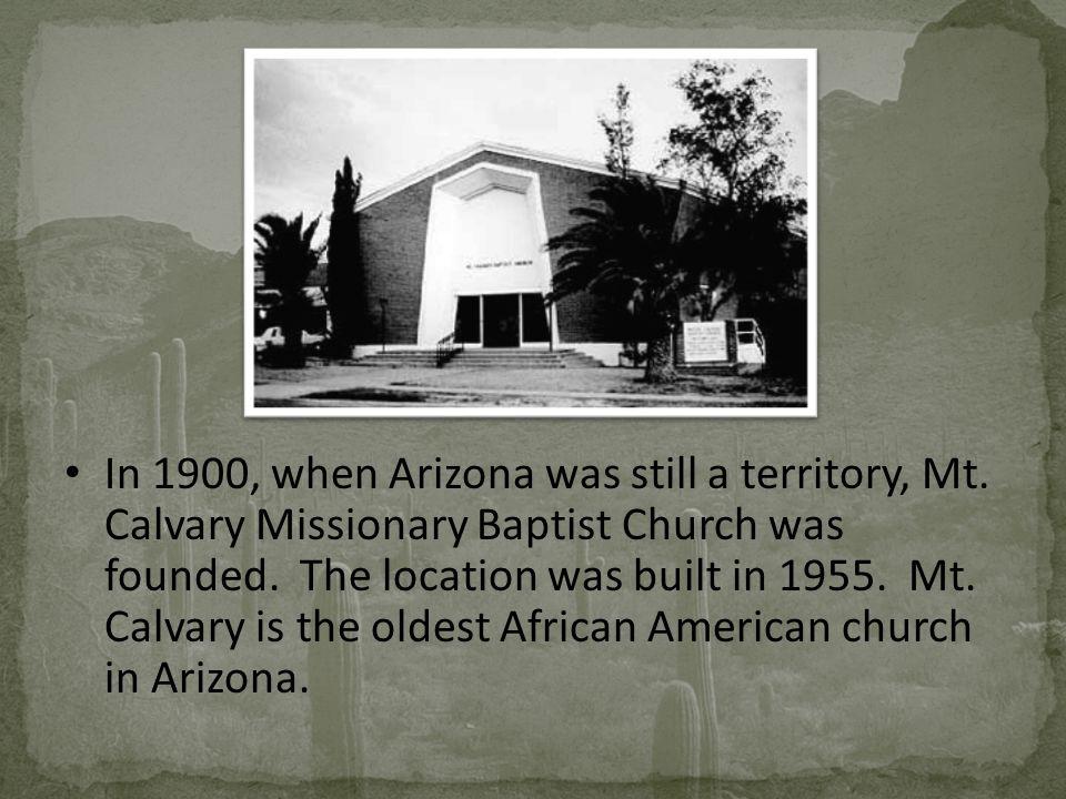 In 1900, when Arizona was still a territory, Mt