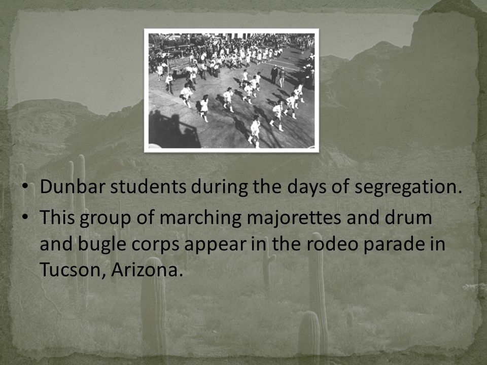 Dunbar students during the days of segregation.