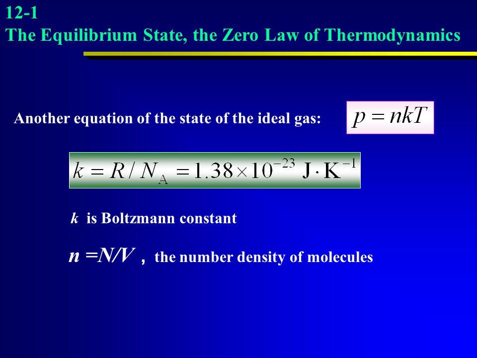 n =N/V,the number density of molecules