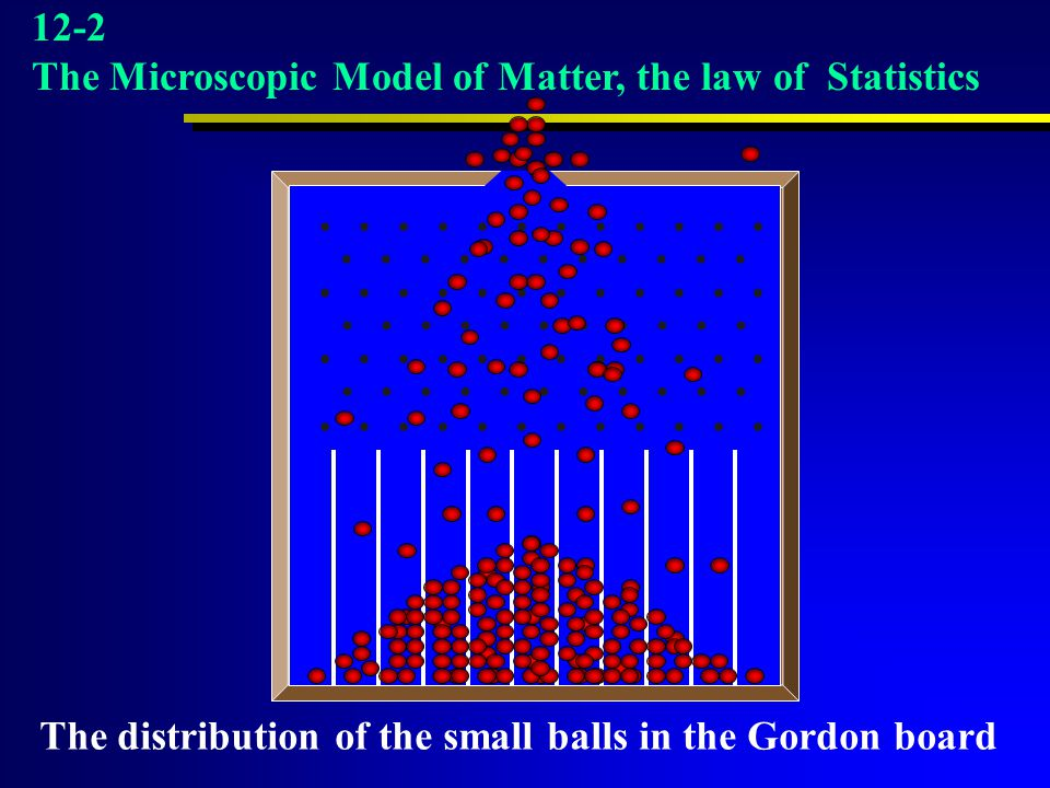 12-2 The Microscopic Model of Matter, the law of Statistics. . . . . . . . . . . . . . . . . . . . . . . .