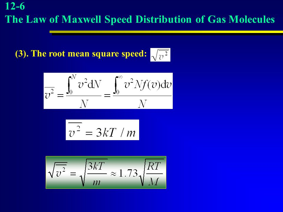 The Law of Maxwell Speed Distribution of Gas Molecules