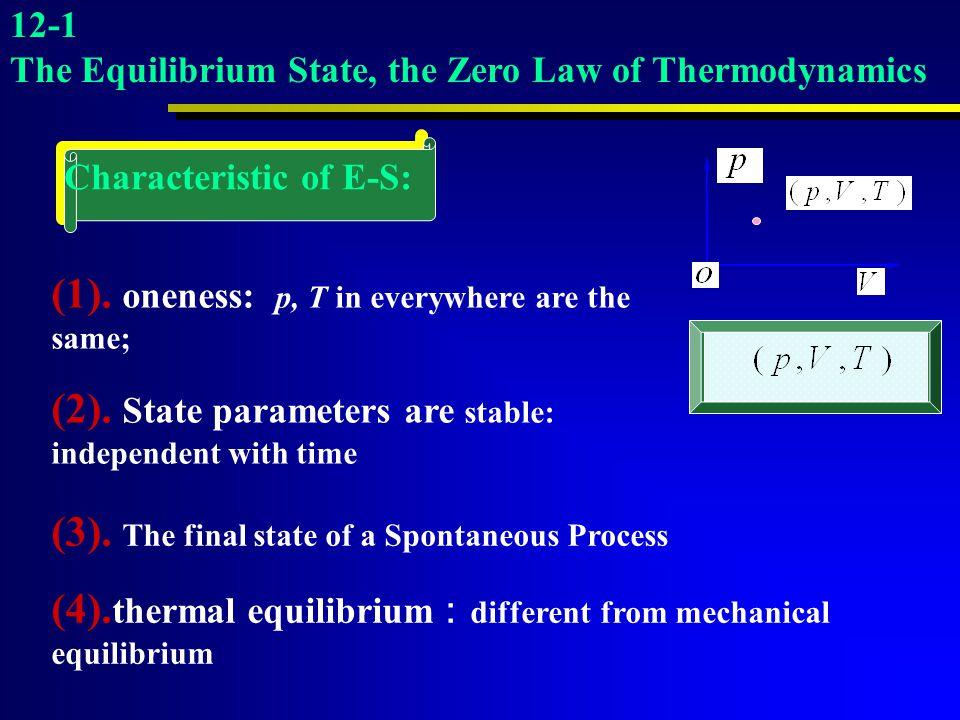 Characteristic of E-S: