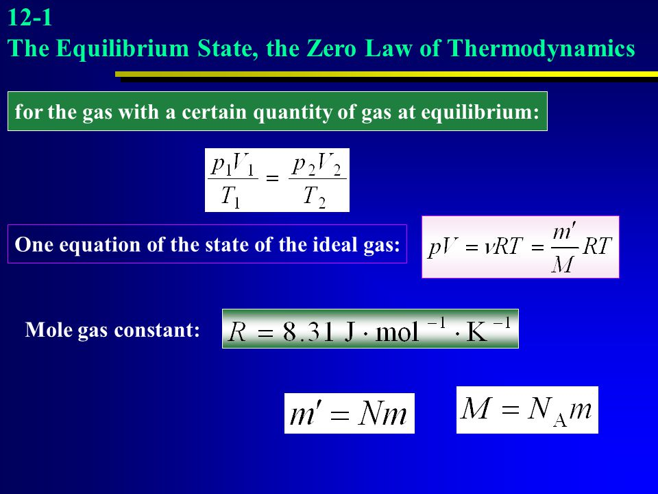 The Equilibrium State, the Zero Law of Thermodynamics