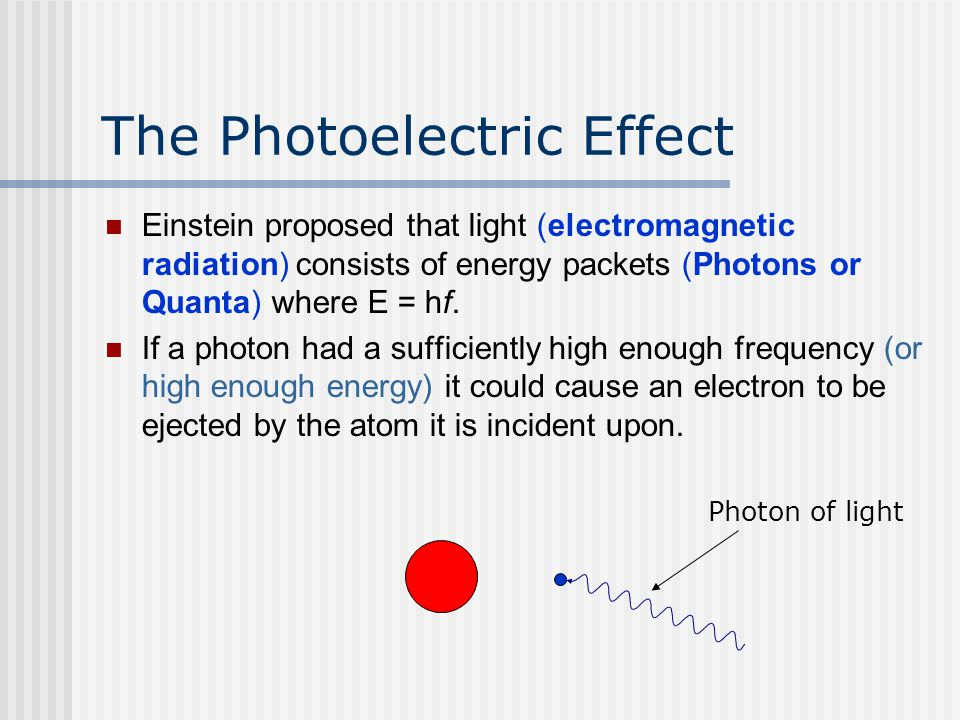 13 3 einsteins photoelectric effect equation essay Free essays albert einstein: the general theory of relativity essay (michio,kaku 13) throughout einstein's four books, he applied the quantum theory to light in order to explain the photoelectric effect.