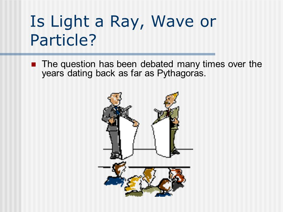 Is Light a Ray, Wave or Particle