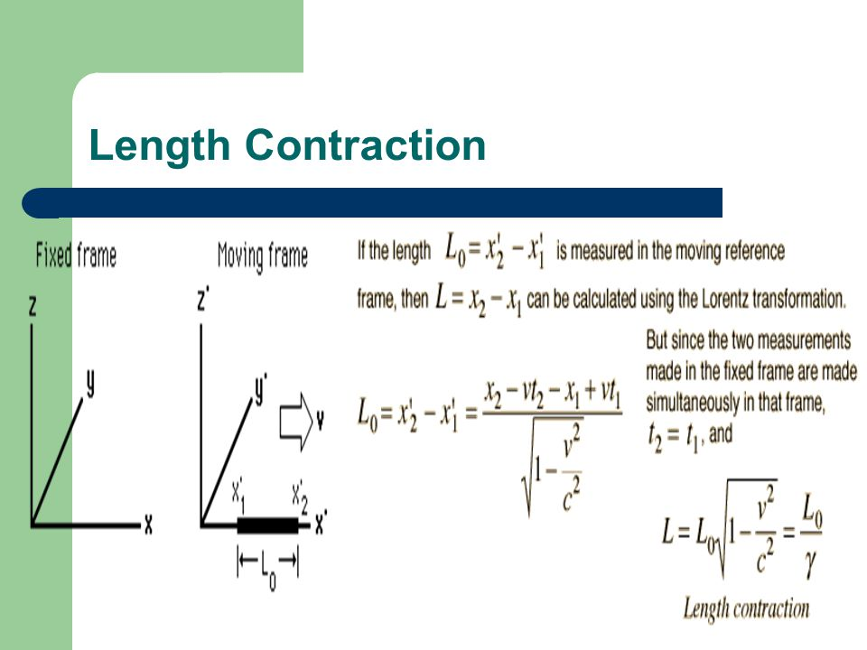 Length Contraction Length Contraction