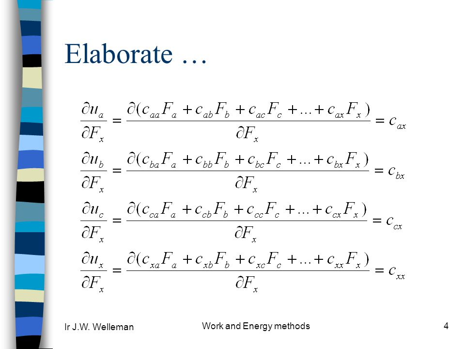 Work and Energy methods