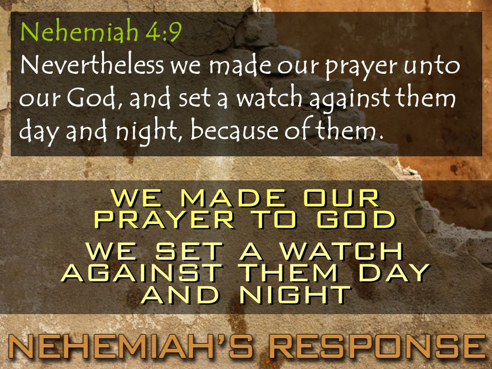 we made our prayer to god we set a watch against them day and night