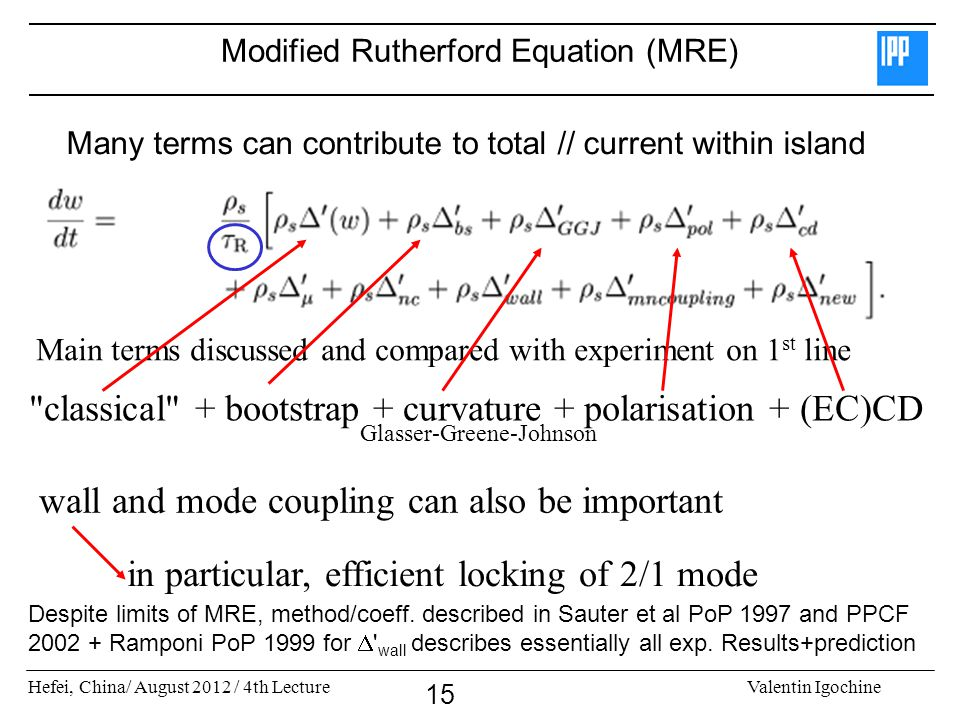 Modified Rutherford Equation (MRE)