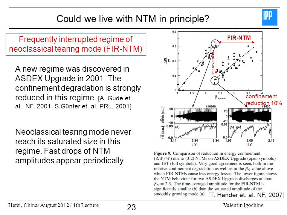 Could we live with NTM in principle