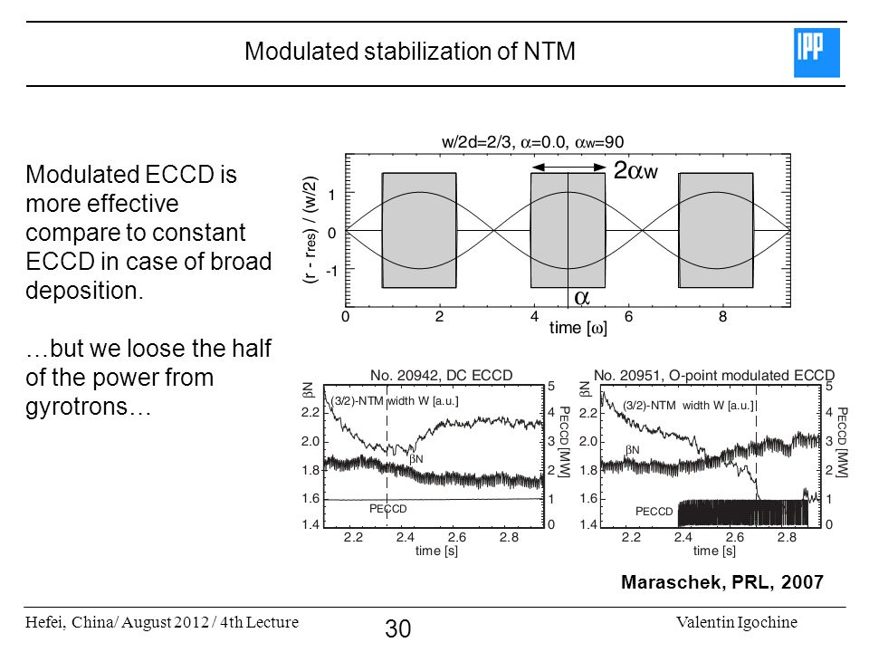 Modulated stabilization of NTM