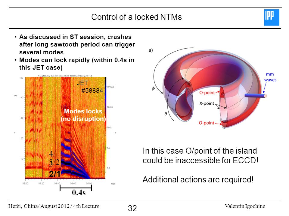 Control of a locked NTMs