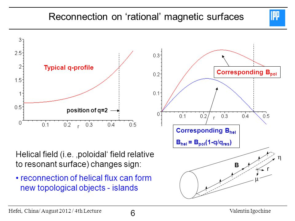 Reconnection on 'rational' magnetic surfaces
