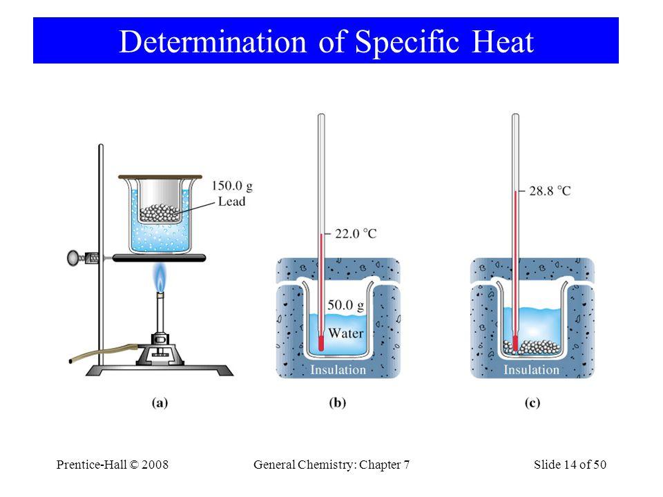 Determination of Specific Heat