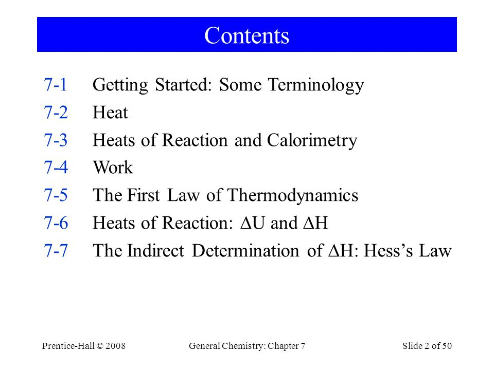 General Chemistry: Chapter 7