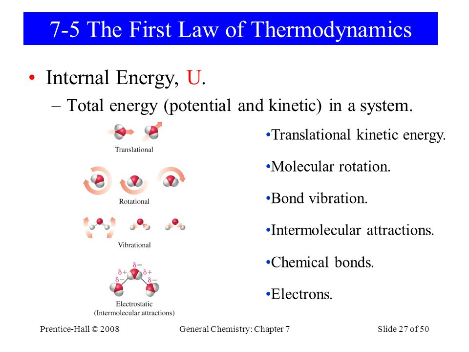 7-5 The First Law of Thermodynamics