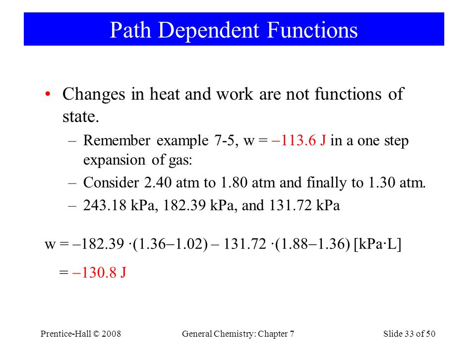Path Dependent Functions