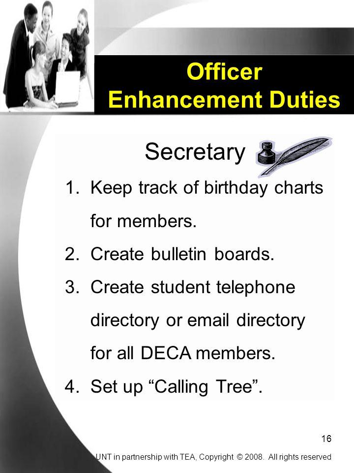 Officer Enhancement Duties