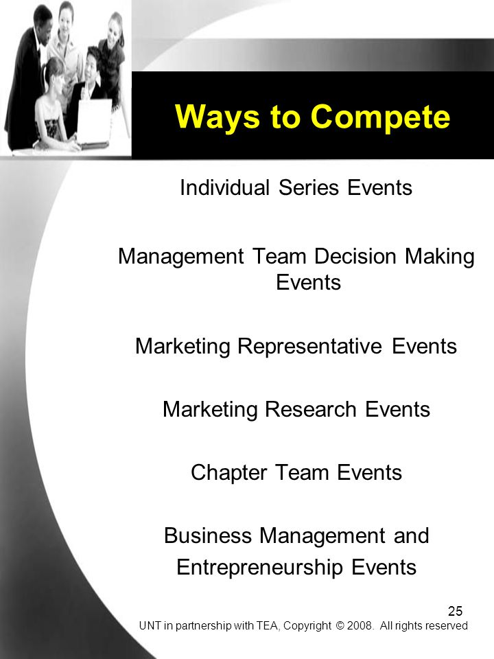 Ways to Compete Individual Series Events