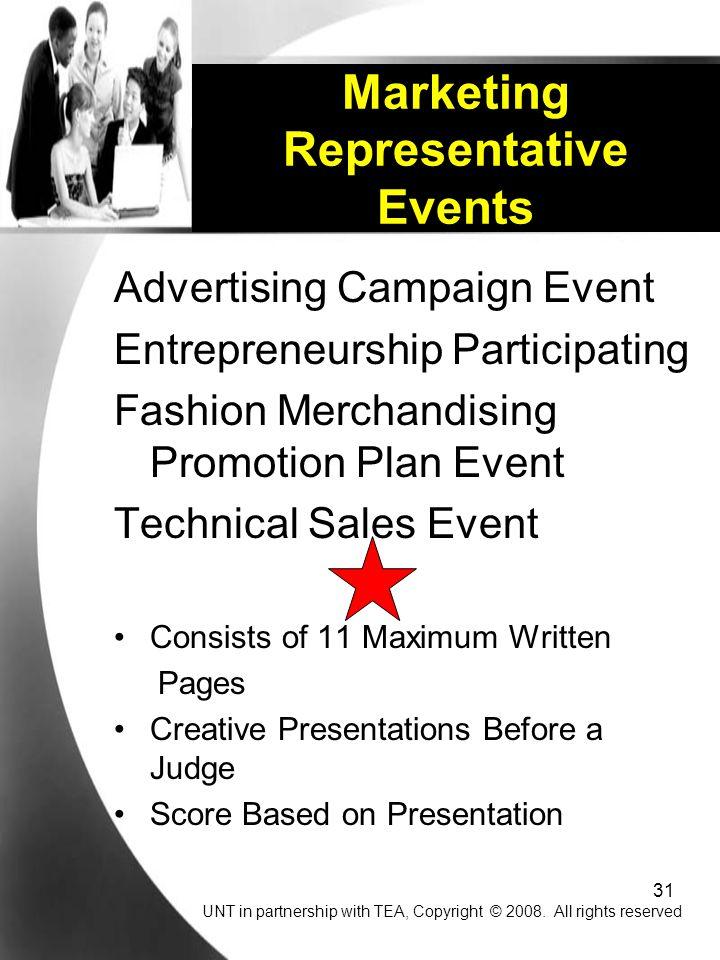 Marketing Representative Events