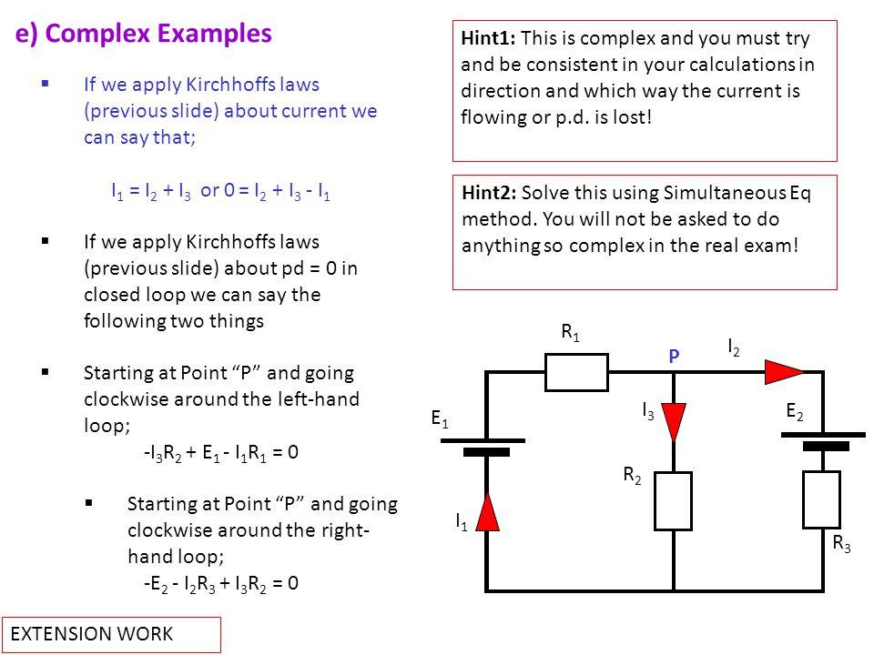 e) Complex Examples