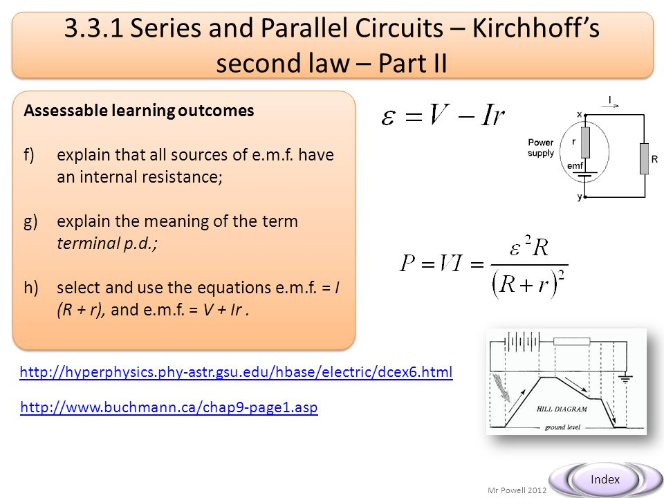 3.3.1 Series and Parallel Circuits – Kirchhoff's second law – Part II