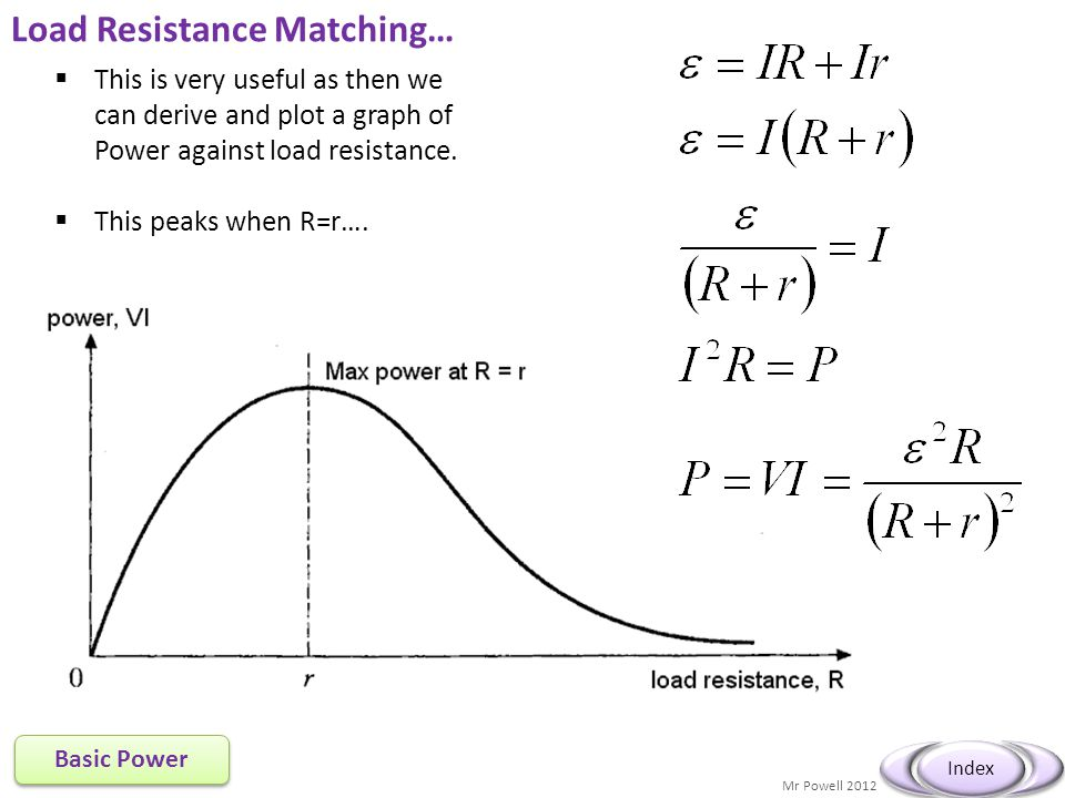 Load Resistance Matching…