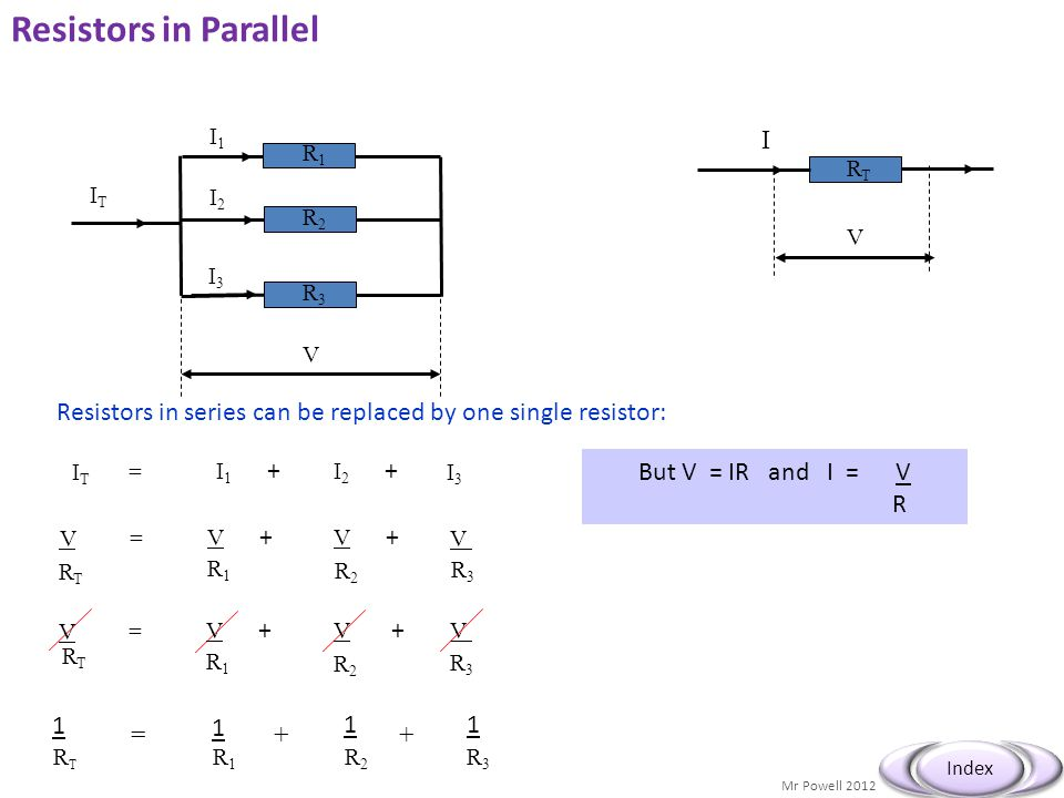Resistors in Parallel I
