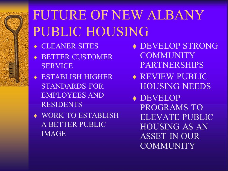 FUTURE OF NEW ALBANY PUBLIC HOUSING