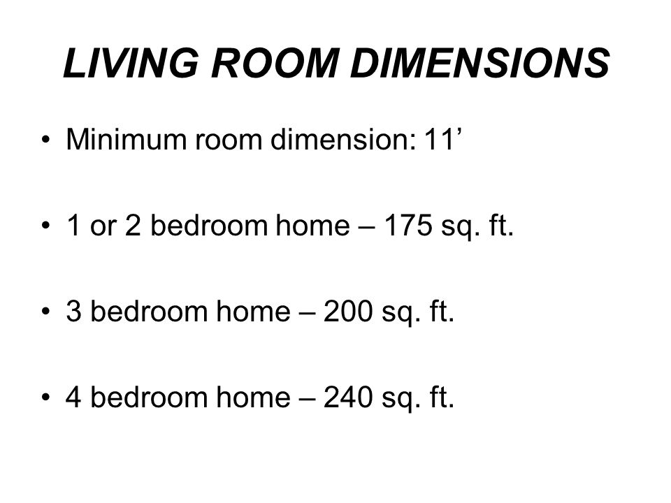 LIVING ROOM DIMENSIONS