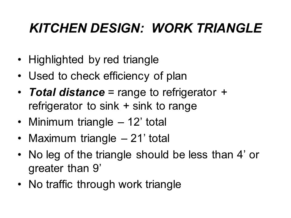 KITCHEN DESIGN: WORK TRIANGLE