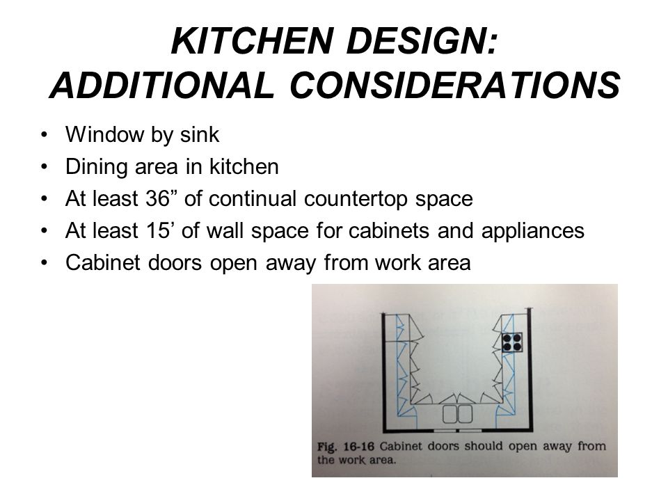 KITCHEN DESIGN: ADDITIONAL CONSIDERATIONS