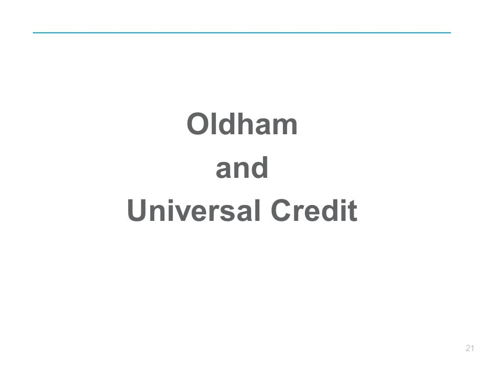 Oldham and Universal Credit