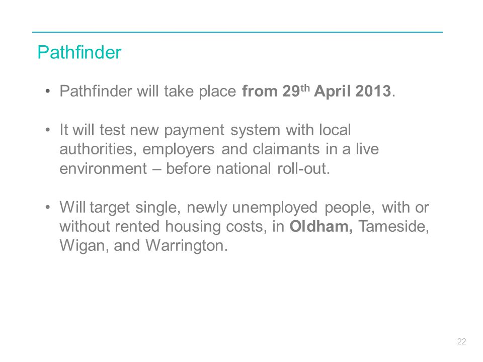 Pathfinder Pathfinder will take place from 29th April 2013.