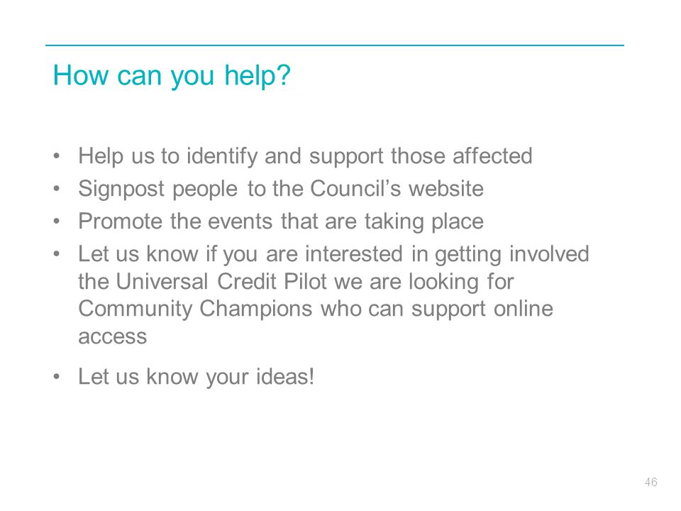 How can you help Help us to identify and support those affected