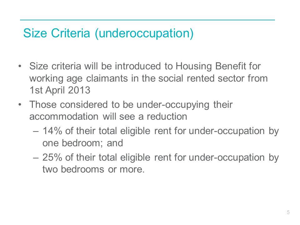 Size Criteria (underoccupation)