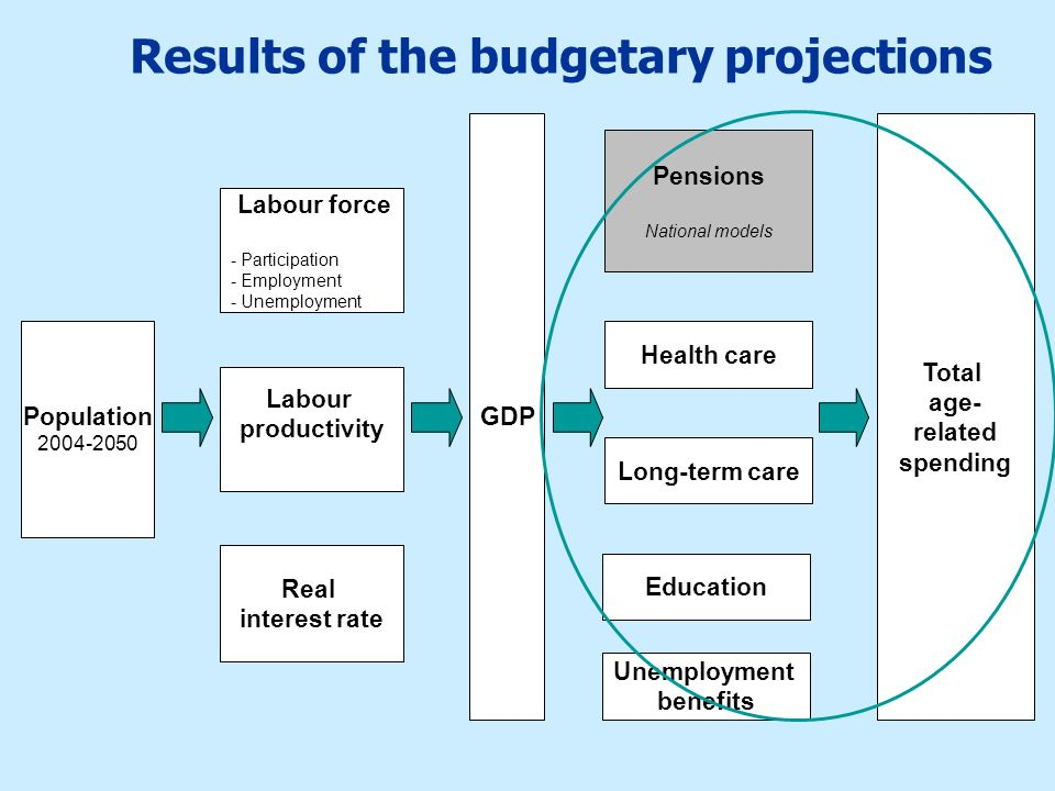 Results of the budgetary projections
