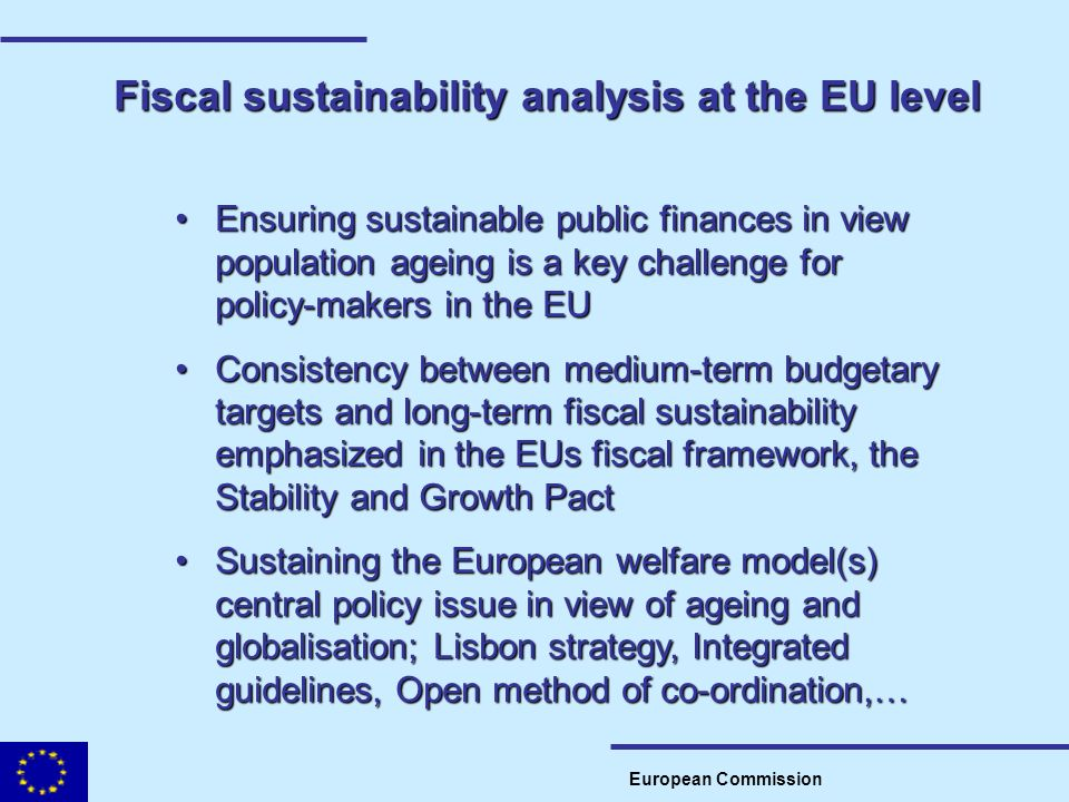 Fiscal sustainability analysis at the EU level