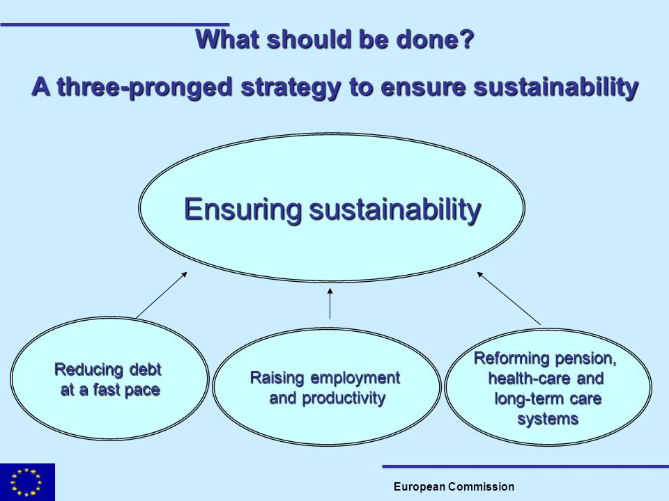 A three-pronged strategy to ensure sustainability
