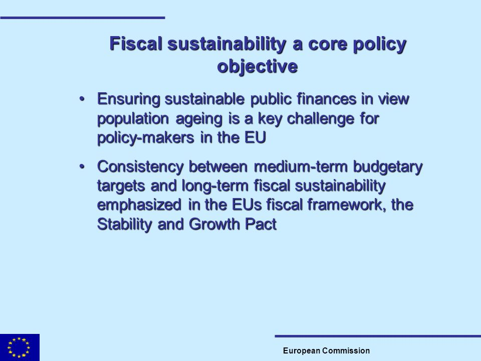 Fiscal sustainability a core policy objective